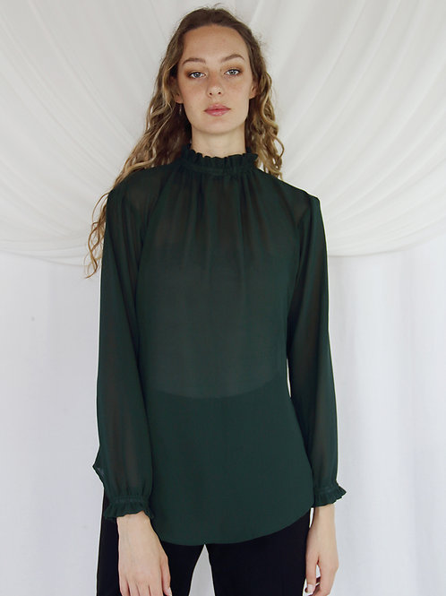 Molly High Neck Blouse ( Without Tie)