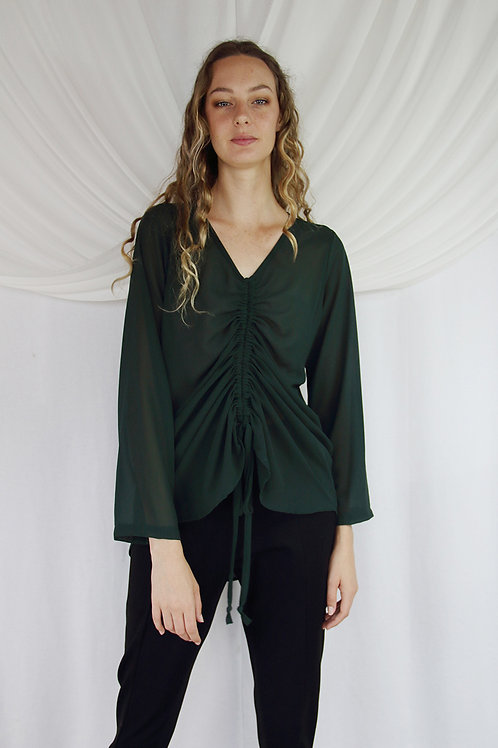 Aurora Rouched Front Blouse