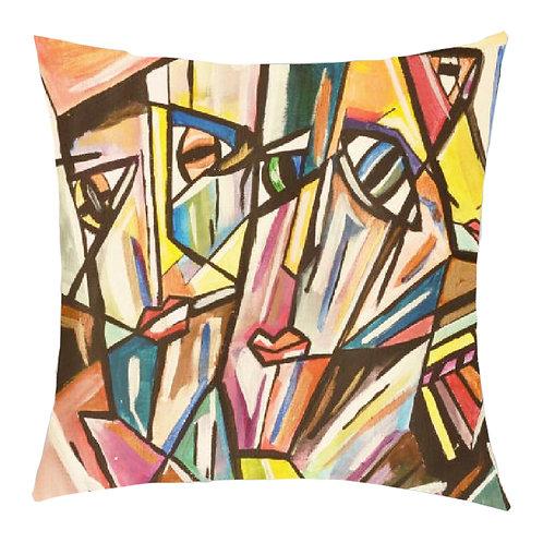 """Mysterious"" Printed Art Cushion"