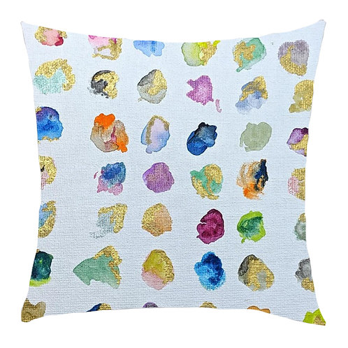 """Irregular Dots"" Printed Art Cushion"