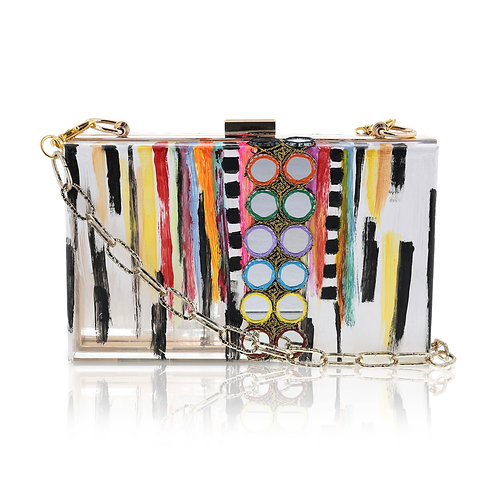 BOHEMIAN FUSION Acrylic Clutch / Cross-Body Bag