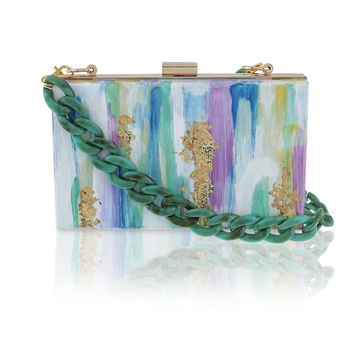 PASTEL SPLASH Acrylic Clutch / Cross-Body Bag