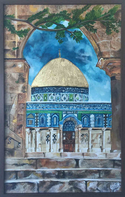 The view - Dome of the Rock (Palestinian Collection)