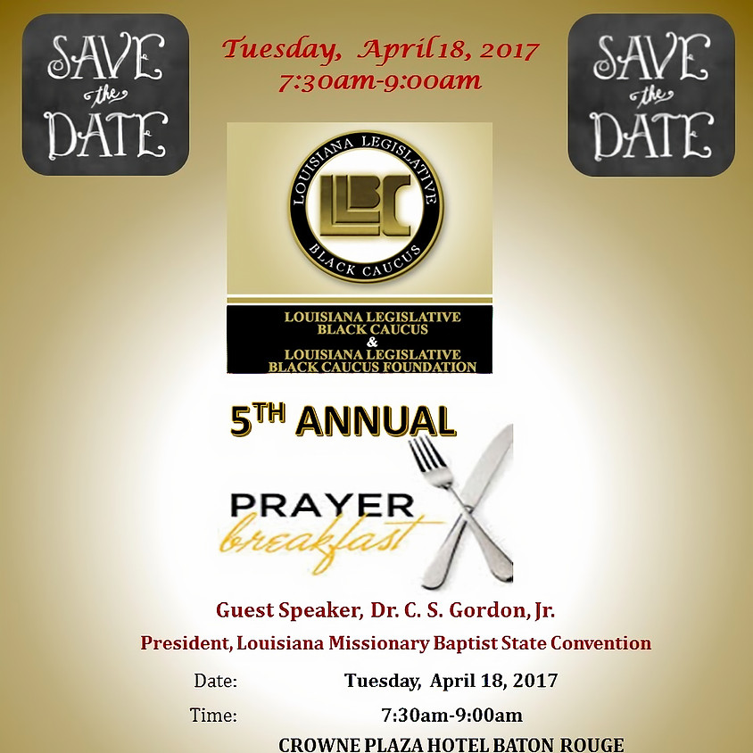 5th Annual Legislative Black Caucus Prayer Breakfast