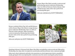 Kenner Mayor Pulls Back Controversial Nike Ban