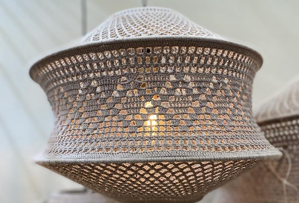 Macramé hanglamp - taupe