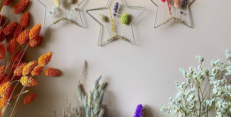 Mini droogbloem sterren - 2 stuks