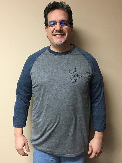Ultra Soft Baseball Shirt with ILU Handshape