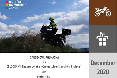 """DARČEKOVÁ POUKÁŽKA - Celodenný Enduro výlet s výukou """"Trenčianskym krajom"""""""