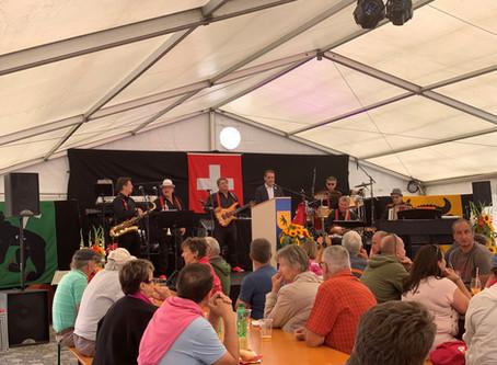 Andermatt feierte zum ersten Mal auf der Piazza Gottardo die Bundesfeier.
