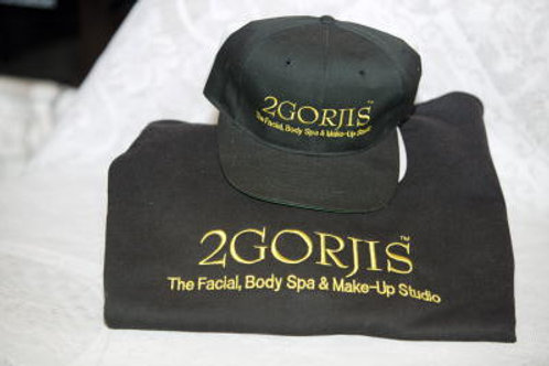 2GORJIS Signature Embroidered Sweatshirt & Cap