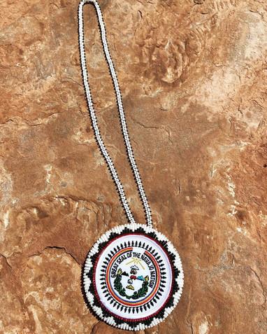 Navajo Seal Patch Necklace