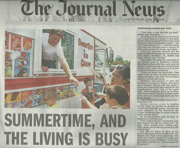 Rockland Journal News Features SweetGuy Ice Cream