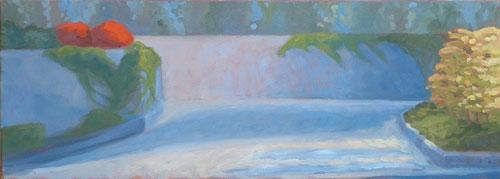 Landscape Blue Wall