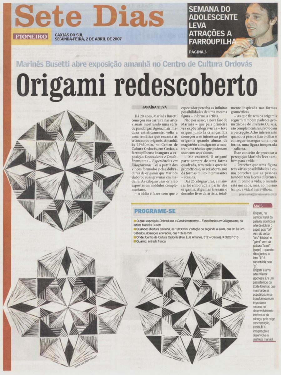 Matéria Jornal Pioneiro