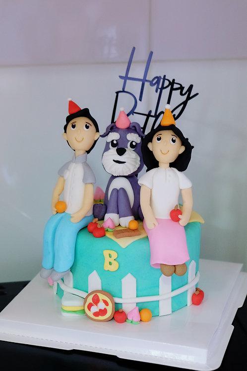 Family Fondant Cake