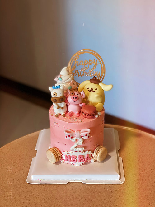 Customized Dolls Cream Cake