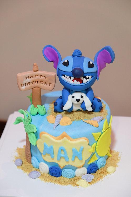 Stitch Fondant Cake
