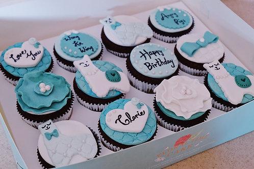 Blue Green Laamas Cupcakes