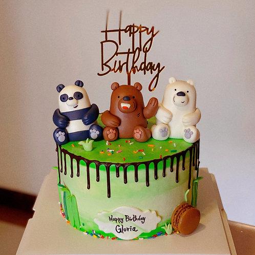 The Bare Bears Cake