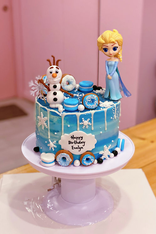 Frozen Elsa and Olaf Cake (with the cake popping stand)