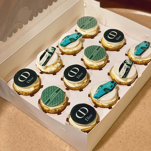 Dior Themed Cupcakes