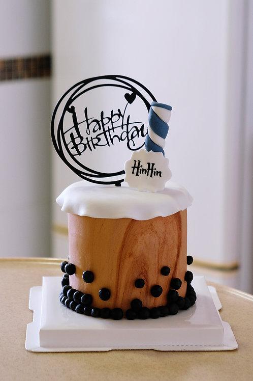 Milktea Fondant Cake