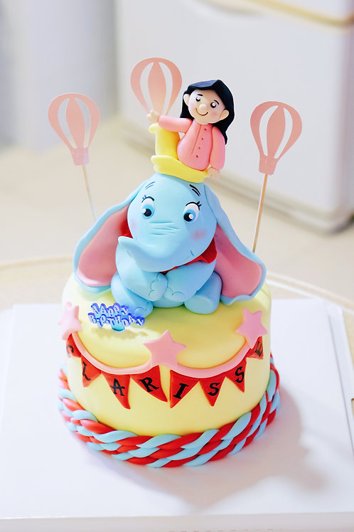 Dumbo and my girl Fondant Cake