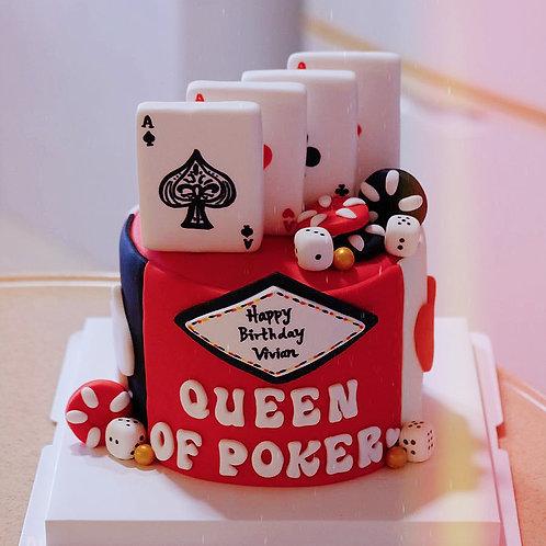 Poker Queen Cake