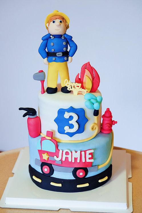 Fireman Sam Fondant Cake