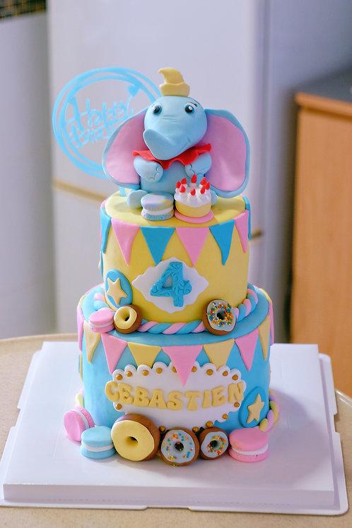 Dumbo Fondant Cake