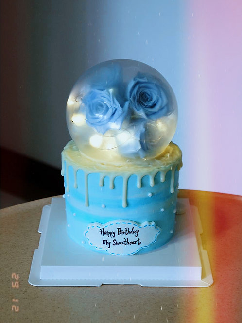 Blue Cream Cake