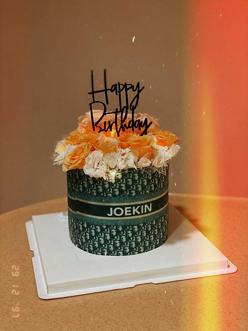 Dior Patterned Floral Cake