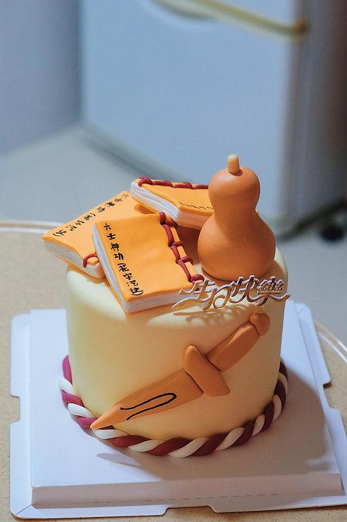Vanilla themed Fondant Cake