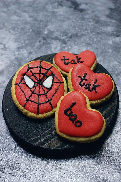 Spiderman Sugar Paste Cookies