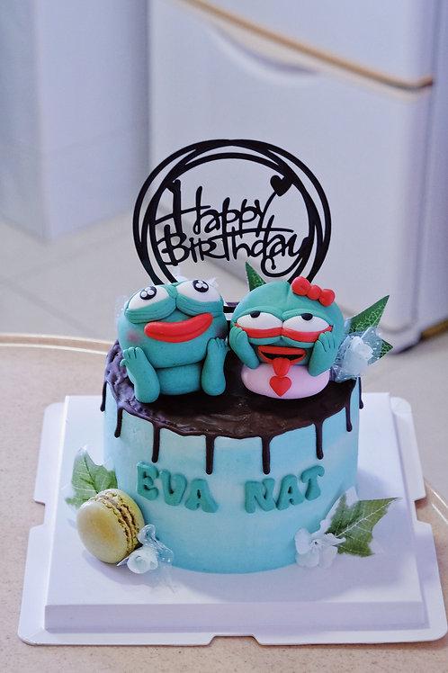 Pepe Frogs Cake