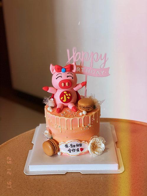 Piggie Cream Cake
