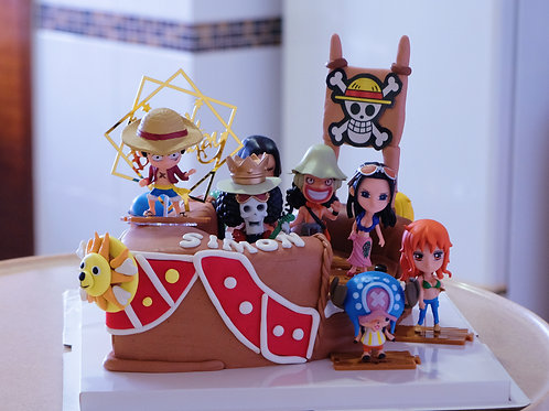One Piece Boat Fondant Cake