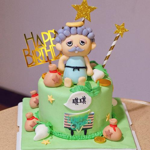 Animal Crossing Fondant Cake