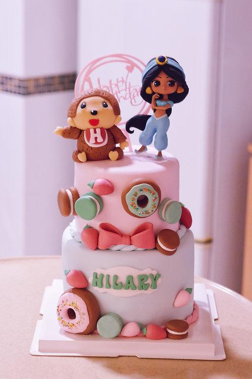 Monchichi & Jasmine Cake
