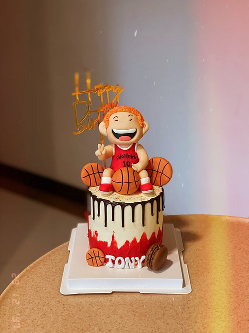 BasketBall Cartoon Cake