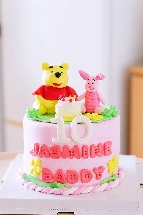 Pooh and Piglet Fondant Cake