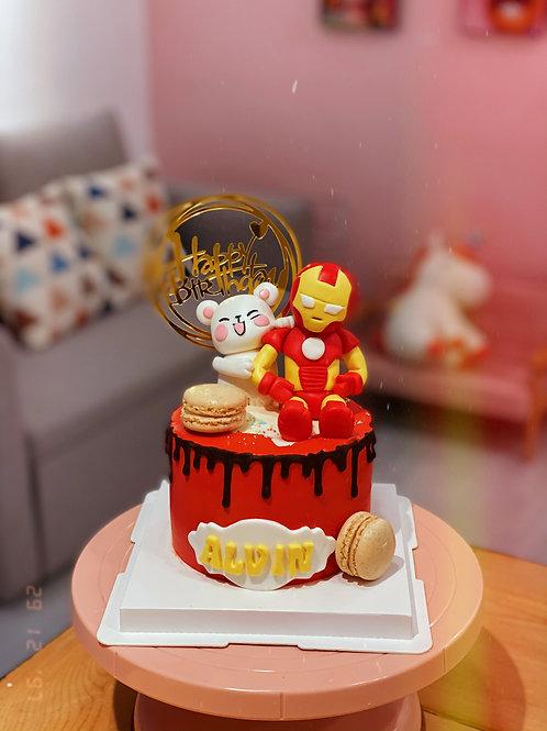 Ironman Cream Cake