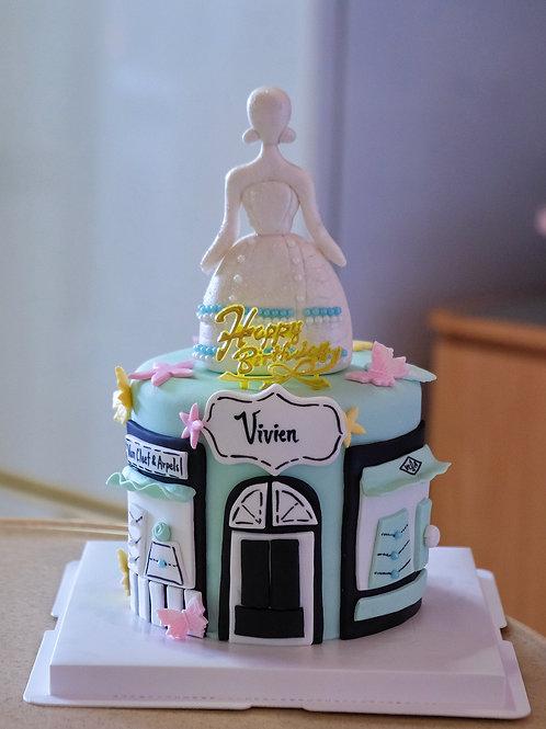 Branded Fondant Cake