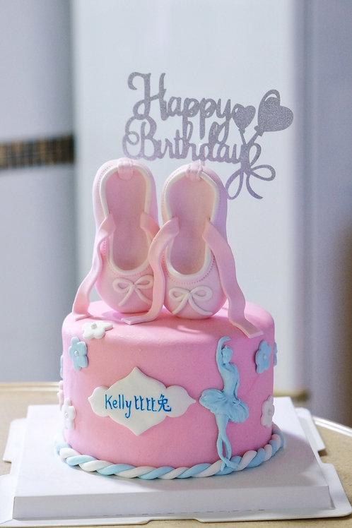 Ballet Shoes Fondant Cake