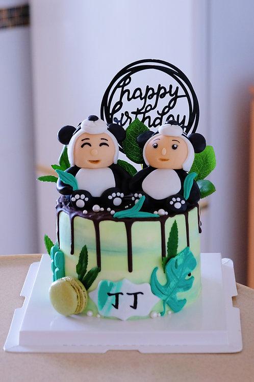 Panda Couples Cake