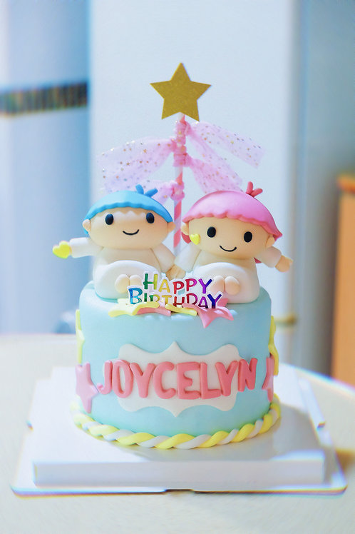 Little Twins Star Fondant Cake