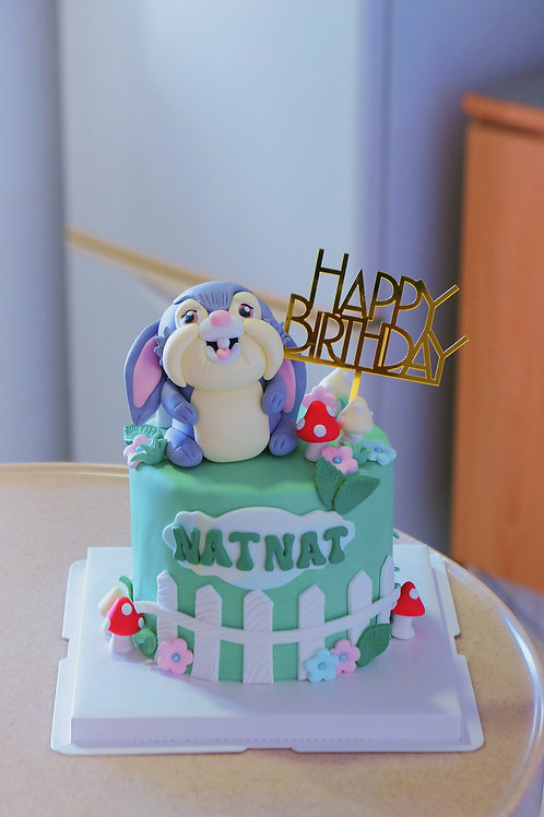 Rabbit Fondant Cake
