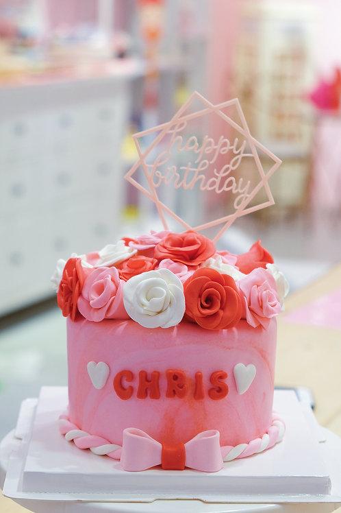 Roses Fondant Cake