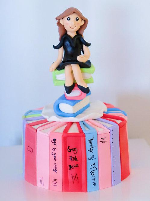 The Bookworm - Fondant Cake